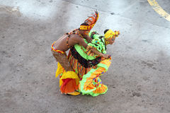 Traditional dancers in Cartagena, Colombia Stock Photos