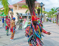 Traditional dancers in St. Kitts. Traditional dancers greeting tourists in St. Kitts port Stock Photography