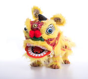 Traditional dancing lion Royalty Free Stock Photo