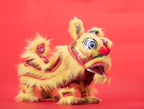 Traditional dancing lion Royalty Free Stock Photos