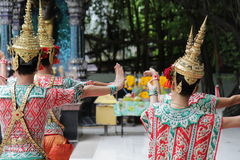 Traditional dancing in thailand. royalty free stock image