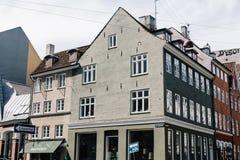 Traditional Danish buildings in Copenhagen stock photo