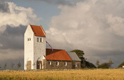 Traditional Danish Church. Stock Photos