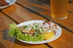Traditional danish fish plate Royalty Free Stock Photo