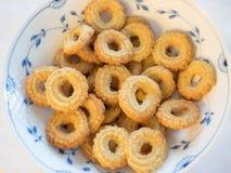 Traditional Danish homemade vanilla christmas cookies Royalty Free Stock Photography