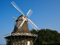 Traditional Danish windmill royalty free stock photo