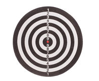 Traditional dart board. Stock Image