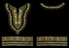 Traditional Dashiki African Pattern Foil Graphic Design royalty free illustration