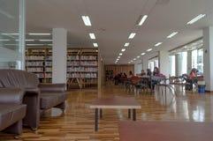 Biblioteca Pontificia Universidad Catolica del Ecuador. A traditional day in the PUCE library stock photos