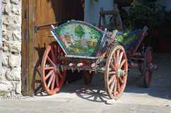 Traditional decorated cart Stock Photo