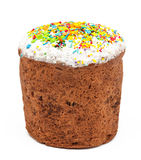 Traditional decorated easter cake kulich isolated Stock Image