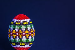 Traditional decorated Eastern egg isolated Stock Image