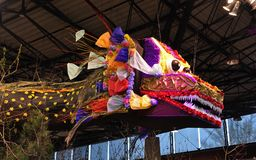 Traditional decoration in Asian countries during celebrations. Dragon-traditional decoration in Asian countries during celebrations royalty free stock photos