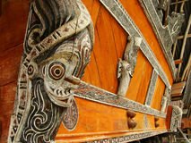 Traditional decoration of Batak house on Samosir island, Sumatra Royalty Free Stock Photography