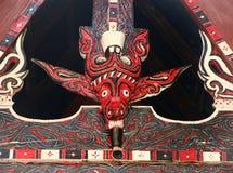 Traditional decoration of Batak house on Samosir island, Sumatra Royalty Free Stock Photos