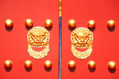 The Traditional Decoration on Chinese Palace Gate Stock Images