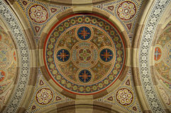 Traditional decoration on church ceiling Stock Images