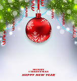 Traditional Decoration with Fir Branches Stock Images