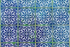 Free Traditional Decoration Of The Facade Of The House In Porto. Typical Portuguese And Spanish Ceramic Tiles Azulejos Stock Photo - 128362520