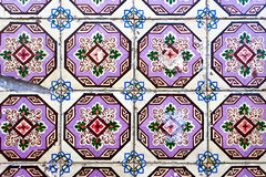 Traditional decorative Portuguese tiles Royalty Free Stock Photo