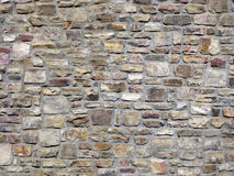 Traditional Decorative Rock Wall. Royalty Free Stock Images