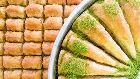 Traditional delicious arabic dessert baklava. Food concept photo.  stock photo