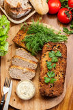 Traditional delicious meat pate with vegetables Stock Image