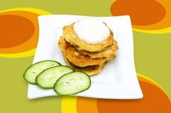 Traditional delicious potato pancakes Royalty Free Stock Photography