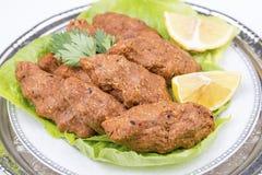 Traditional Delicious Turkish foods; bulgur kofte cig kofte.  stock photo