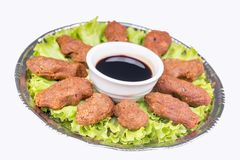 Turkish foods; cig kofte. Traditional delicious Turkish foods; bulgur salad, cig kofte stock photos