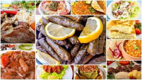 Traditional Turkish Foods Collage Stock Photo - Image of