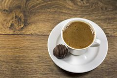 Traditional delicious Turkish hot drink; Turkish coffee.  stock photo