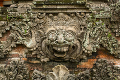Traditional demon guard statue carved Royalty Free Stock Photos