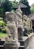 Traditional demon guards statue on Bali island Royalty Free Stock Images