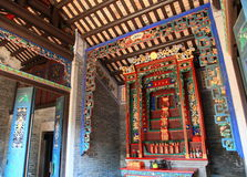 Traditional design of a historical Chinese village house Stock Images