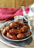 Traditional  dessert sweet dried dates Royalty Free Stock Photos