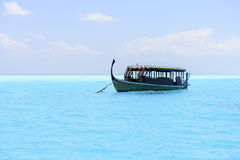 Traditional Dhoni boat in Maldives Stock Photos