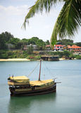 Traditional dhow. On Mombasa river Kenya Africa Stock Image