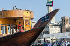 Traditional dhow boat in dubai Royalty Free Stock Photography