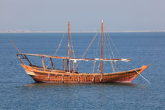 Traditional dhow in Doha Stock Images