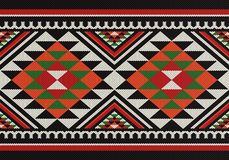 Traditional Diamonds Folk Sadu Arabian Hand Weaving Pattern Stock Photo