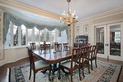 Traditional dining room Stock Images