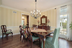 Traditional dining room Royalty Free Stock Images