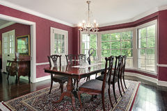 Traditional dining room Stock Photo