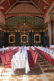 Traditional Dining Room in Cambridge University Stock Photos