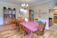 Traditional diningroom Stock Image