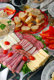 Traditional Dinner. Appetizers ready to be served before a traditional dinner in the family Stock Images