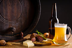 Traditional dinner and beer Royalty Free Stock Images