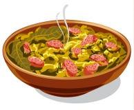 Traditional dish bigos Stock Photos