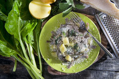 Traditional dish of the Valtellina Italy, Pizzoccheri Royalty Free Stock Images
